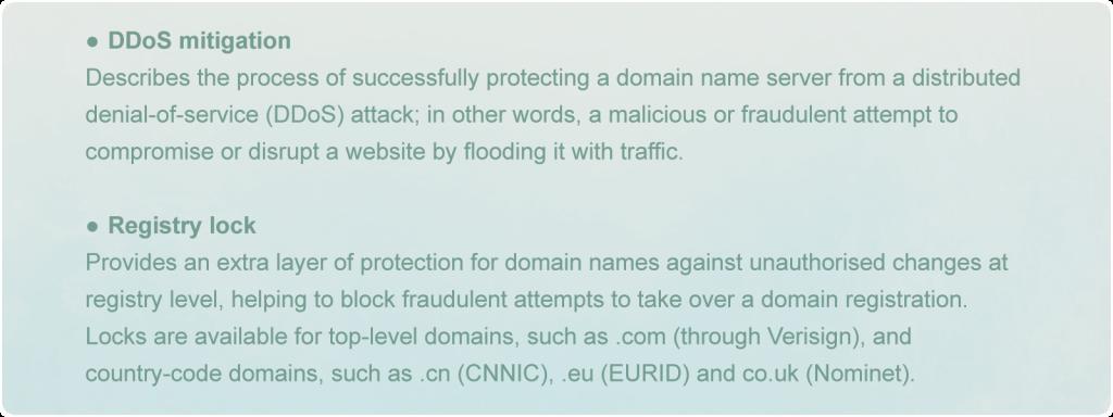 DDos Mitigation and Registry Locks