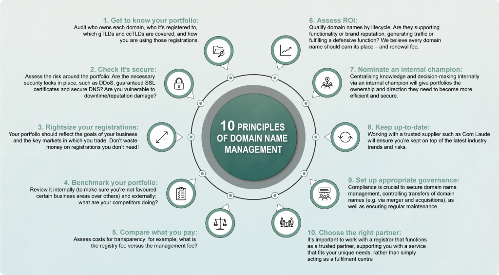 10 Principles to Corporate Domain Management